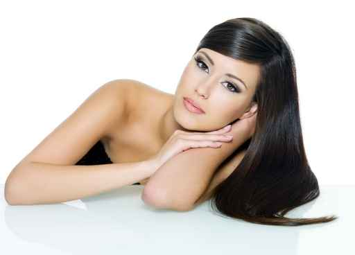 Beautiful woman with beauty long straight